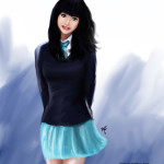 How to Paint a Cute School Girl