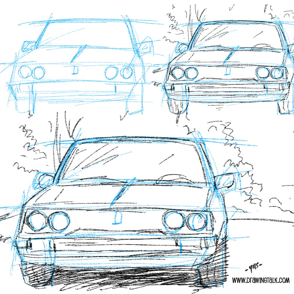how to draw a cool car step by step easy