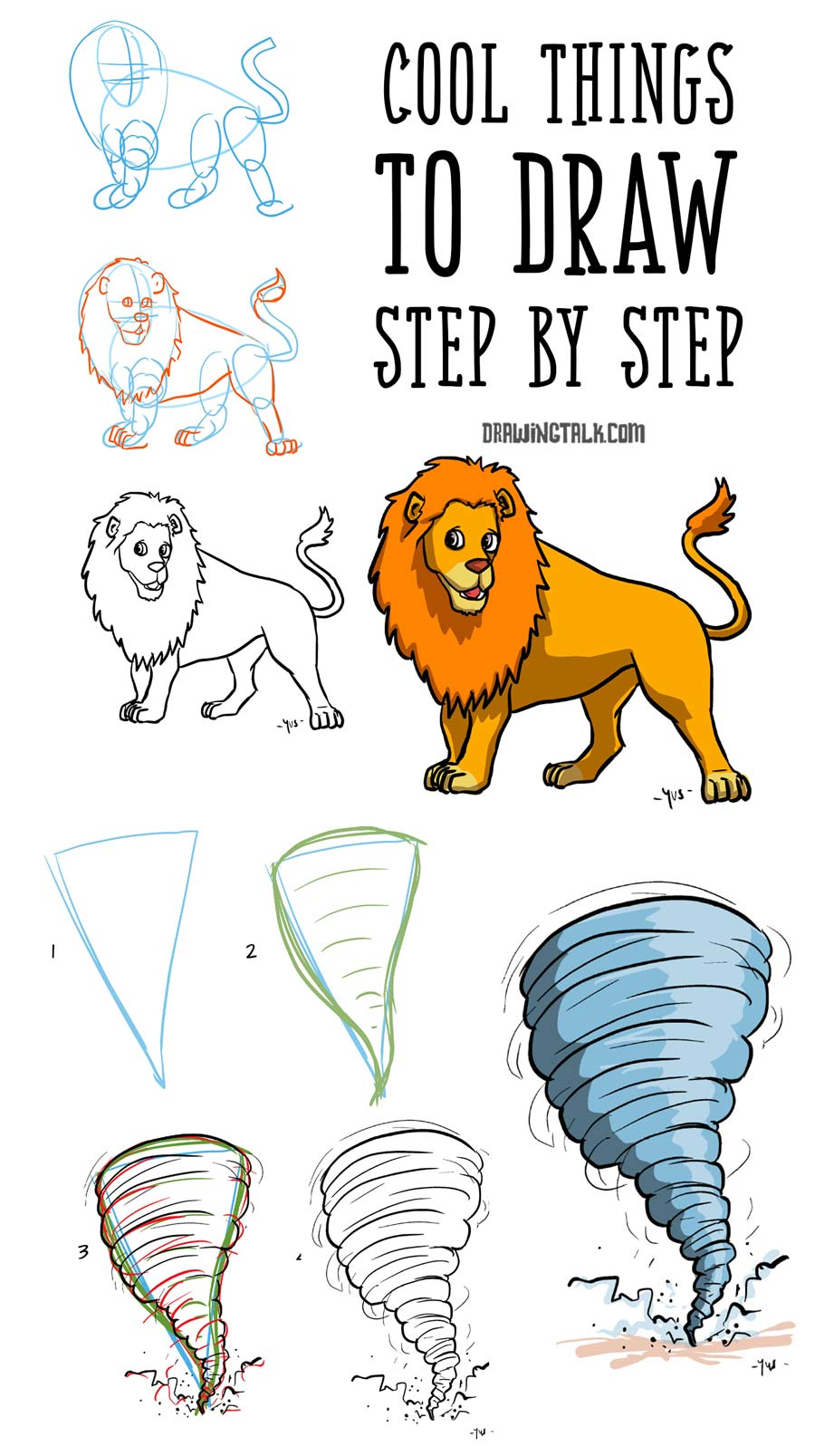 easy steps to draw cool things to draw step by step