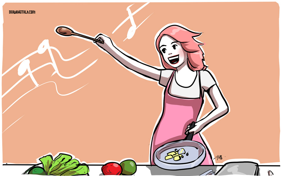cooking and dancing