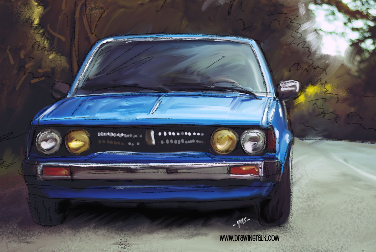 How to draw a car - Corolla