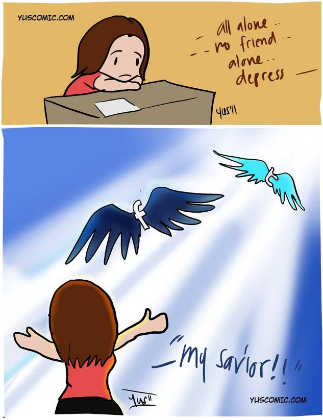 Facebook cartoon illustration