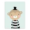 stripe monkey hat