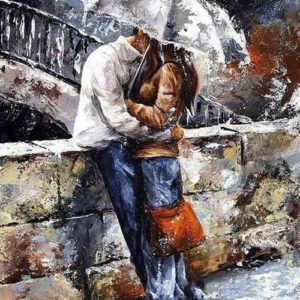 Romantic lover DIY painting